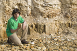 Young geologist studying rock type3