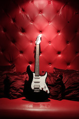 electric guitar in red