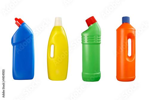 Leinwandbild Motiv plastic bottle cleaning