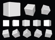 3d white cubes