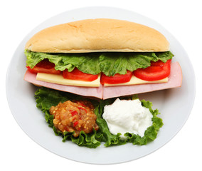 plate with sandwich