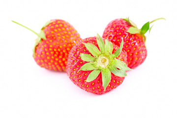 Fresh srawberries, isolated on white