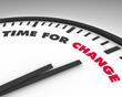 Leinwandbild Motiv Time for Change - Clock