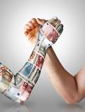 Economy arm wrestling poster