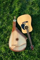 bandura with guitar