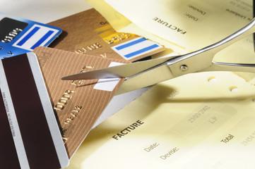 Destroying credit cards.