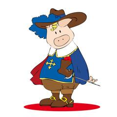 Musketeer pig