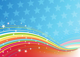 fourth of July patriotic abstract background poster