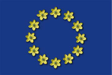 Floral flag of european union