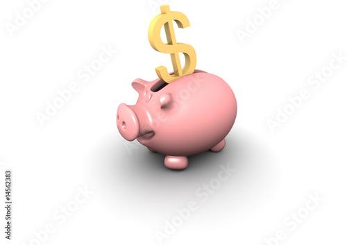 piggy bank dollar