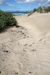 sand dunes on Famara beach