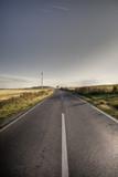 Fototapety Asphalt road in country
