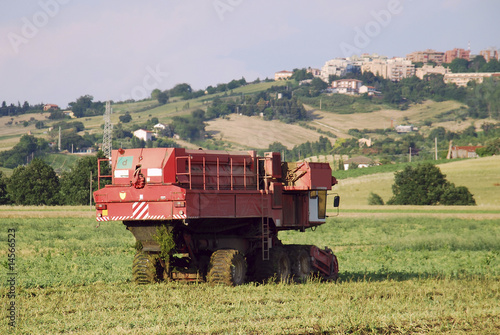 Machine agriculture in a field