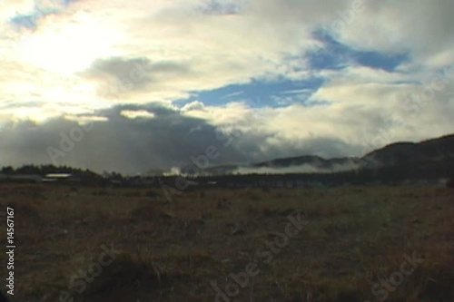 Cloud Time Lapse over Mountain Coast