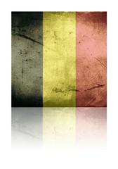 grunge flag of belgium