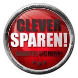 Clever sparen! Button poster