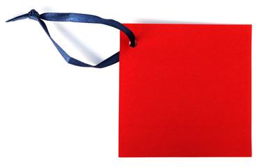 post-it rouge en papier recyclé et cordonnet bleu