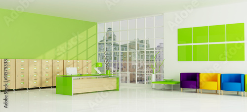 colored city office -rendering