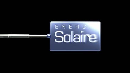 Panneau energie solaire 3D