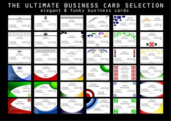 Elegant and Funky Business Cards Set