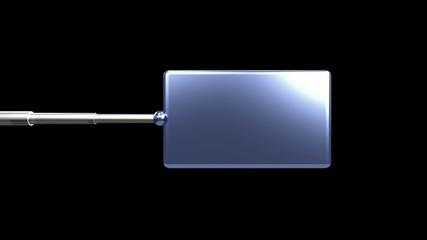 Panneau information solaire bleu fond noir