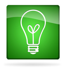 icona lampadina verde