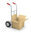Hand truck with open box