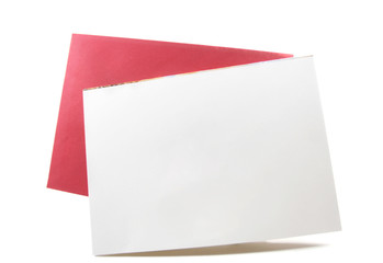 Blank white card, empty copyspace for text, design