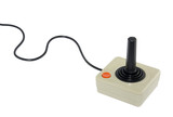 Classic joystick with clipping path poster
