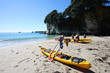 Sea kayaking in Coromandel, New Zealand