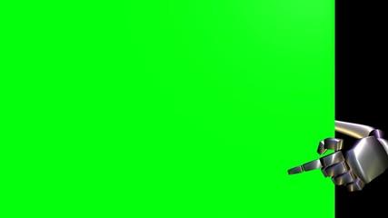 Zeige Finger  -  Green Screen - freigestellt