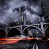 Fototapety Lights of a night city