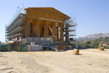 Valle dei Templi in restauro