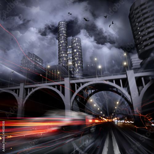 Lights of a night city - 14585938