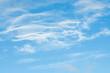 wispy cloud group on blue sky - 14586591