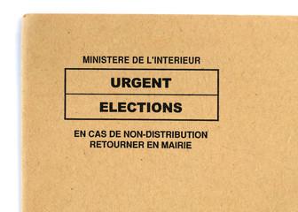 enveloppe pour les élections