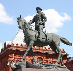 The memorial of marshal Zhukov.