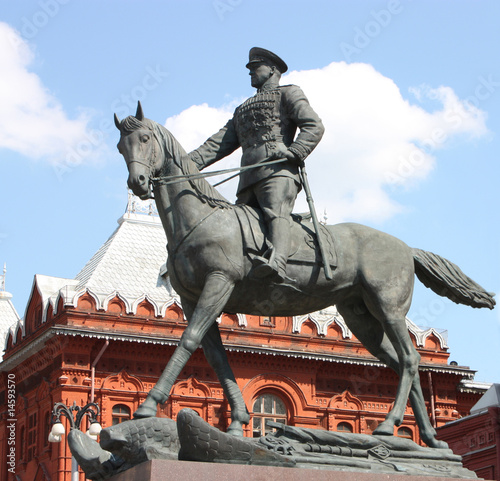The memorial of marshal Zhukov.