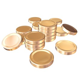 Heap gild coins of the money