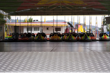 Minicars at funfair
