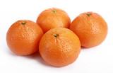 Neatly retouched orange isolated on white background poster