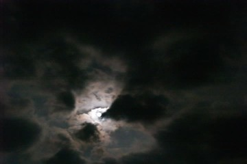Dark clouds rush past the rising moon timelapse of the night sky