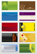 Vector collections backgrounds templates  for business cards  7