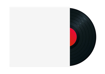 Vinyl record in sleeve. High-detailed vector