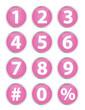 Numbers - Pink