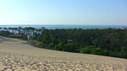 travelling depuis le sommet de la dune du Pilat