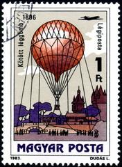 Magyar Posta. Montgolfière. Timbre postal. 1993