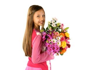 bouquets de fleurs multicolors
