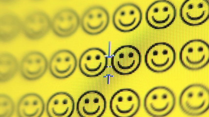 Smiley face changes to a frown