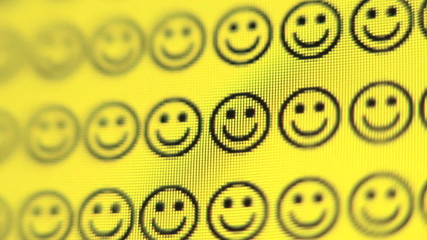 Frowney faces change to smiley faces